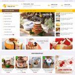Mẫu website bán bánh ngọt - BH10 - Trang chủ
