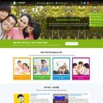 Mẫu website bán bảo hiểm - BH11 - Trang chủ