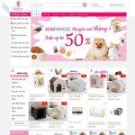 Mẫu website bán hàng sản phẩm thú cưng giống dogparadise trang chủ