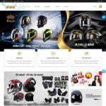 Mẫu website bán mũ bảo hiểm - BH09 - Trang chủ
