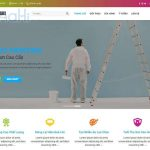 Mẫu website kinh doanh các loại sơn-BH07