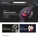Mẫu website bán hàng đồng hồ trang chủ
