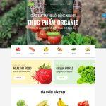 Mẫu website sản phẩm nông nghiệp - BH08 - Trang chủ