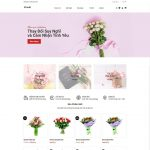 Mẫu giao diện website bán hoa tươi - BH06