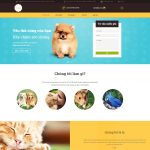 Giao diện Mẫu website bệnh viện thú cưng - DN06 - Trang chủ