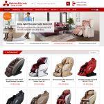 Mẫu website bán ghế massage - BH014 - Trang chủ