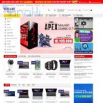 Mẫu website bán hàng điện tử - BH18 - Trang chủ
