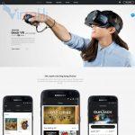 Mẫu website bán kính VR - BH20 - Trang chủ