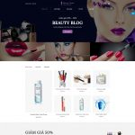 Mẫu website bán mỹ phẩm - BH19 - Trang chủ