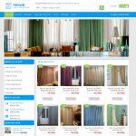 Mẫu website bán rèm cửa - BH17 - Trang chủ