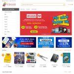 Mẫu website bán văn phòng phẩm giống Fahasa - BH25 - Trang chủ