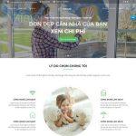 Mẫu website dịch vụ vệ sinh giúp việc nhà - DN02 - Trang chủ