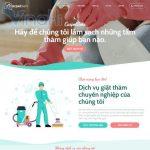 Mẫu website dịch vụ vệ sinh nhà cửa - DN04 - Trang chủ