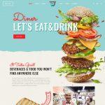 Mẫu website nhà hàng Fast Food - NHKS01 - Trang chủ