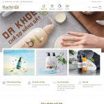 Mẫu website sản phẩm chăm sóc da và tóc - BH24 - Trang chủ