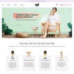 Giao diện mẫu website bán sản phẩm tinh dầu sả - BH32 - Trang chủ
