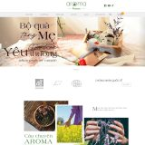 Giao diện mẫu website bán tinh dầu sả - BH30 - Trang chủ