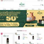 Giao diện mẫu website bán tinh dầu sả - BH31 - Trang chủ