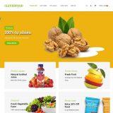 Mẫu website bán thực phẩm sạch giống Clevefood - BH33 - Trang chủ