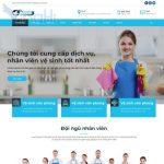 Mẫu website dịch vụ vệ sinh giúp việc nhà - DN07 - Trang chủ