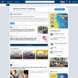 Mẫu website giống diễn đàn webtretho - BH34 - Trang chủ