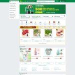 Giao diện mẫu website giống Bachhoaxanhcom - Trang chủ